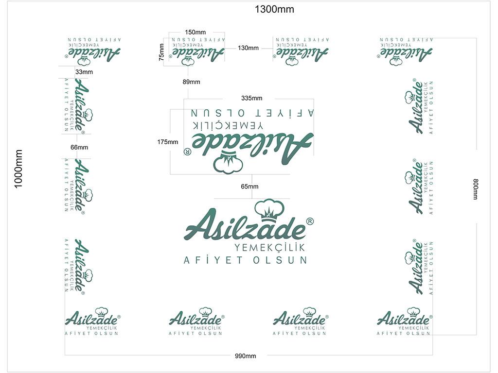 Asilzade Yemekçilik Kağıt Masa Örtüsü