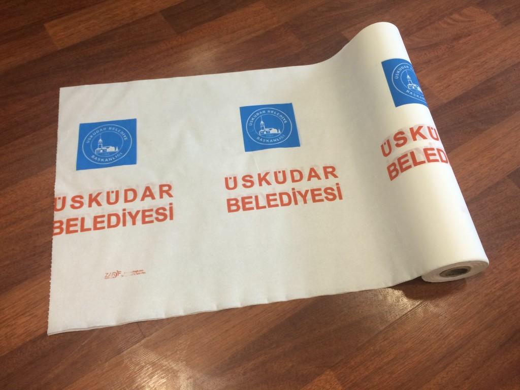 Üsküdar Belediyesi Kağıt Masa Örtüsü