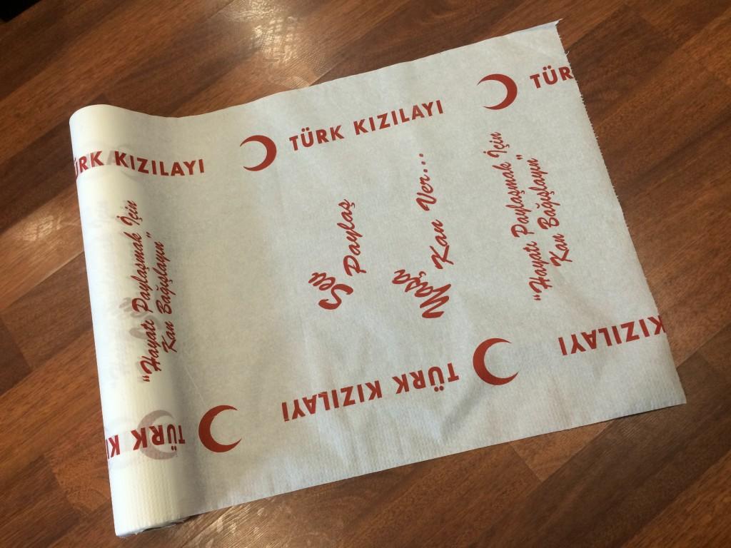 Türk Kızılayı Muayene Masa Örtüsü